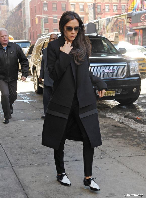 Victoria Beckham complètement à plat dans les rues de New York