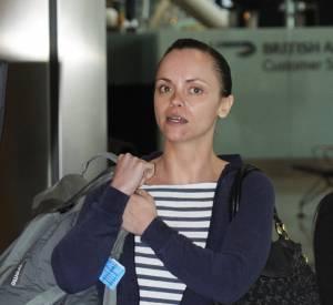 Christina Ricci sans maquillage. Difficile du coup de cacher ses petits défauts.