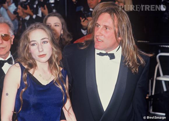 Gérard Depardieu avec Julie au Festival de Cannes en 1992.