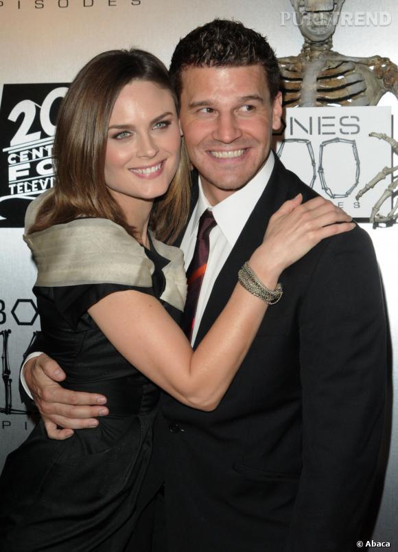 David Boreanaz et Emily Deschanel, un couple qu'on aimerait voir se former à la ville.
