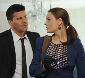 """Emily Deschanel l'anthropologue, et David Boreanaz l'agent du F.B.I dans """"Bones""""."""