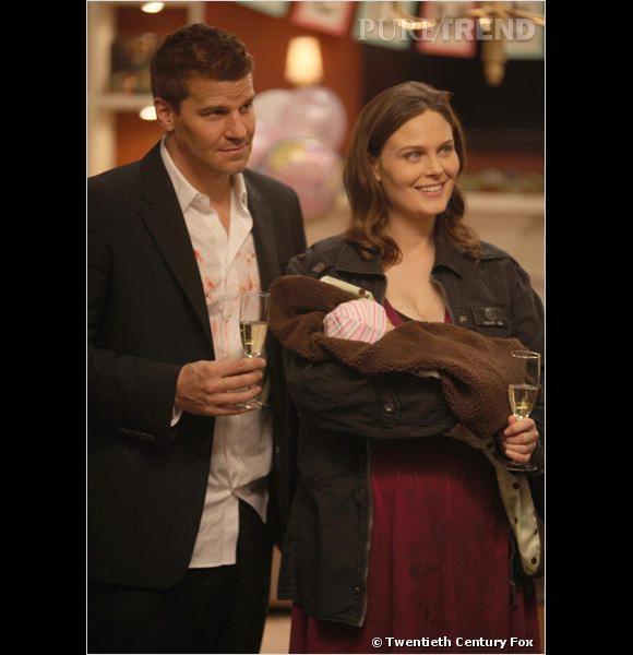 Booth et Brennan, et leur petite Christine.