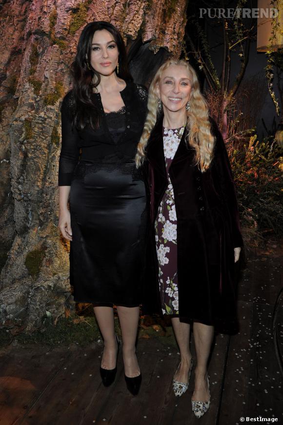Monica Bellucci et Franca Sozzani, rédactrice en chef du Vogue italien.