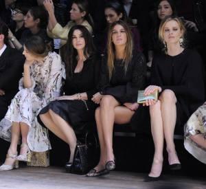 Monica Bellucci, sublime égérie aux côtés des invitées prestigieuses du dernier show Dolce & Gabbaa.