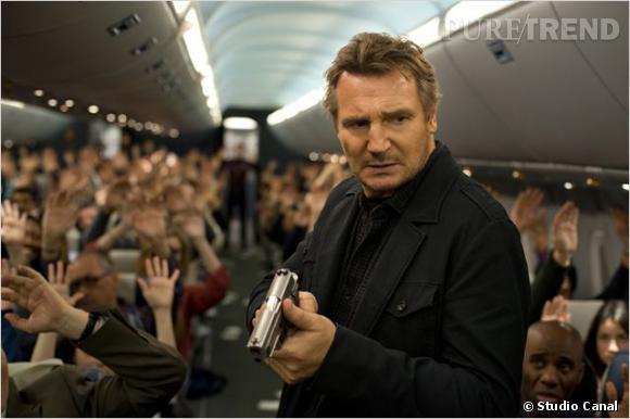 """Liam Neeson dans """"Non-Stop"""", au cinéma le 26 février."""