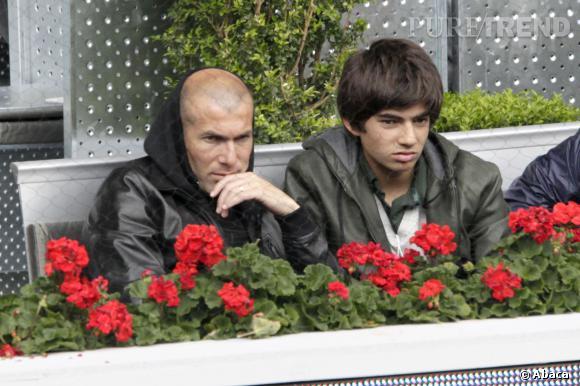 Zinédine Zidane et son fils, Enzo.