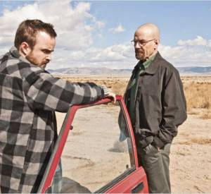 "Aaron Paul et Bryan Cranston dans ""Breaking Bad""."