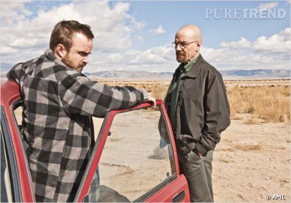 """Aaron Paul et Bryan Cranston dans """"Breaking Bad""""."""