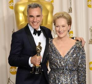 Daniel Day-Lewis et Meryl Streep aux Oscars 2013.