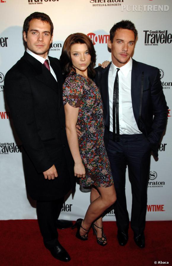 """Henry Cavill, Natalie Dormer et Jonathan Rhys Meyers lors d'une soirée Showtime pour """"Les Tudors"""" saison 2."""