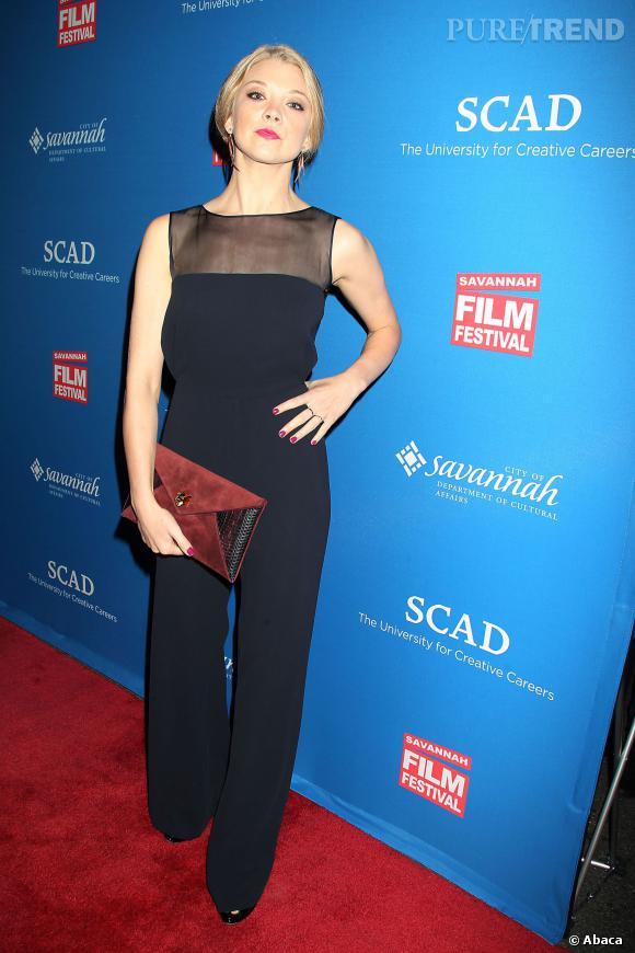 Natalie Dormer en combinaison sexy pour le Savannah Film Festival, le 26 octobre 2013.