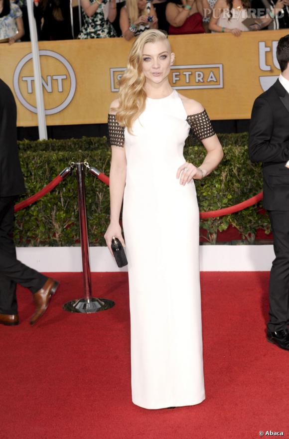 """Natalie Dormer a fait sensation lors des SAG Awards 2014, puisqu'elle a dévoilé une partie de son crâne rasé ! L'actrice se relooke pour son rôle dans """"Hunger Games : La révolte partie 1""""."""