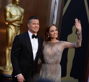 Angelina Jolie et Brad Pitt, le couple le plus glamour de la 86ème cérémonie des Oscars.