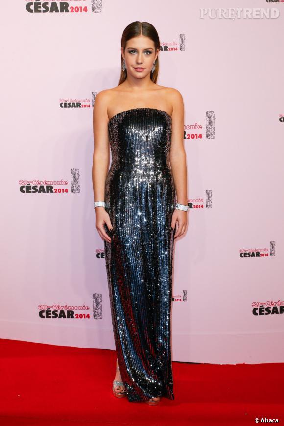 Adèle Exarchopoulos, scintillante aux César 2014.