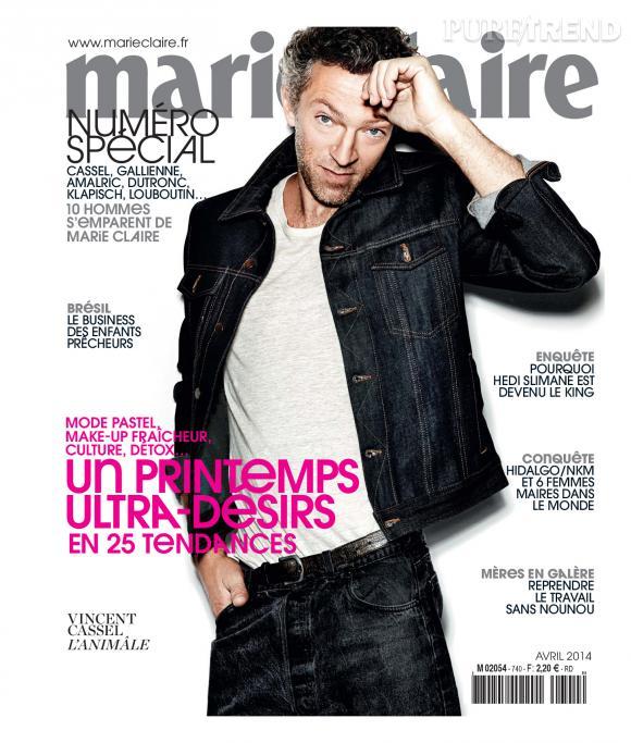 Vincent Cassel fait la couverture de Marie-Claire, à partir du 6 mars prochain