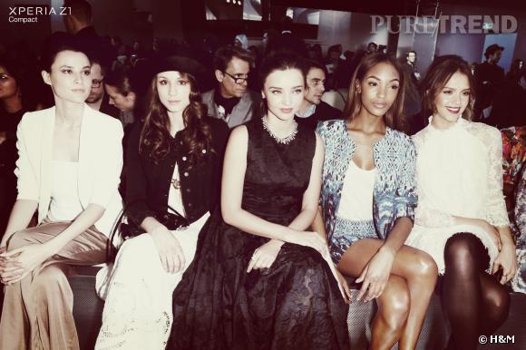 Le front row de it-girls du défilé H&M Automne-Hiver 2014/2015.