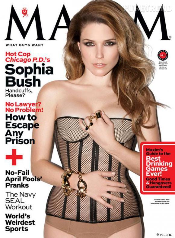 Sophia Bush pour Maxim avril 2014.