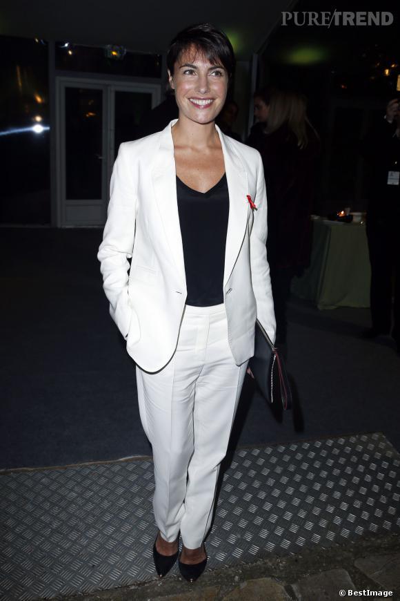 Alessandra Sublet en janvier 2014 pour le dîner de la mode du Sidaction.