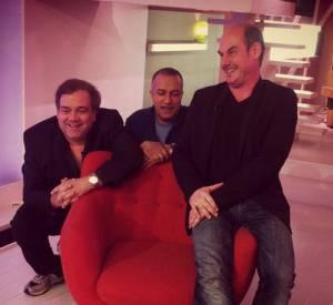 """""""Les trois frères"""" Didier Bourdon, Bernard Campan et Pascal Légitimus dans """"C à vous""""."""