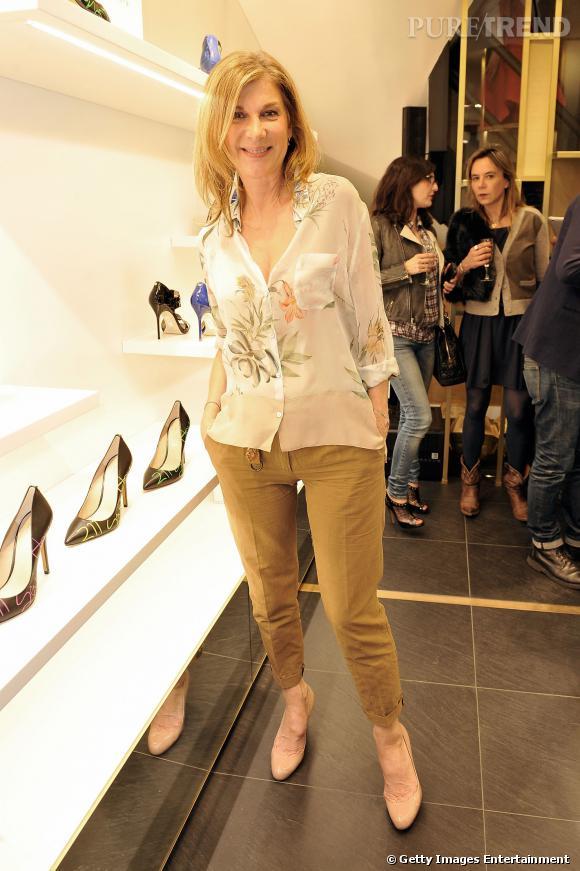 Michèle Laroque à l'inauguration de la boutique CosmoParis au 211 rue Saint-Honoré jeudi 13 mars 2014.