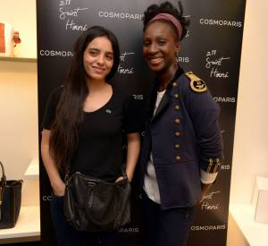 Hafsia Herzi à l'inauguration de la boutique CosmoParis au 211 rue Saint-Honoré jeudi 13 mars 2014.