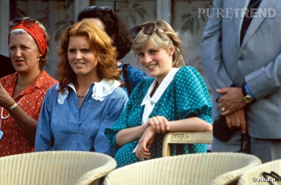Les princesses Sarah et Diana en 1982.