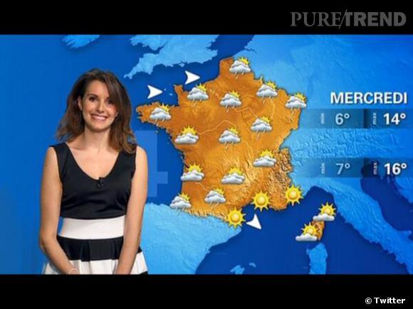 Fanny Agostini, toujours très souriante pour présenter la météo.