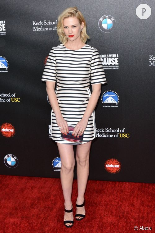 January Jones au Gala Paramount Studio fait sensation le 20 mars 2014.