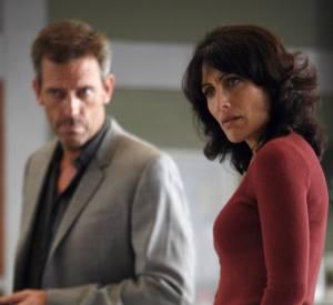 "Lisa Edelstein, alias Cuddy dans ""Dr House"" avec Hugh Laurie."
