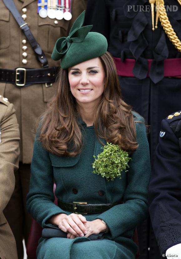 Kate Middleton lors de la cérémonie de la Saint Patrick le 17 mars 2014.