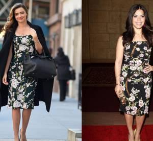Miranda Kerr vs America Ferrera : la mini robe à fleurs Dolce & Gabbana