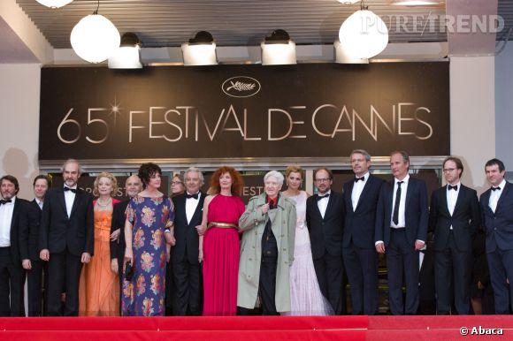"""Lambert Wilson à la projection du film """"Vous n'avez encore rien vu"""", au Festival de Cannes 2012."""