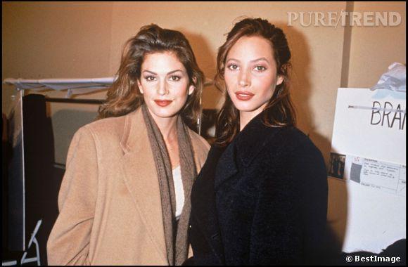 Christy Turlington et Cindy Crawford en 1993.