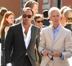 Tom Ford et Richard Buckley au défilé Haute Couture Valentino Automne-Hiver 2017/2008.