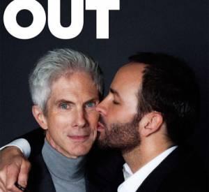 """Tom Ford et Richard Buckley en Une du magazine """"Out""""."""