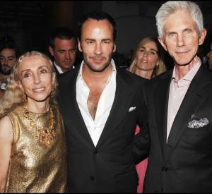 Tom Ford et Richard Buckley aux 40 ans du Vogue Uomo en italie en juin 2008.