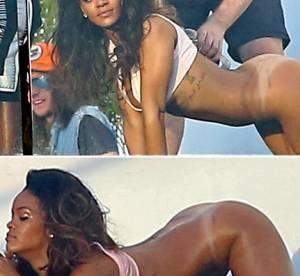 Rihanna sans culotte, fesses en l'air : les photos choc