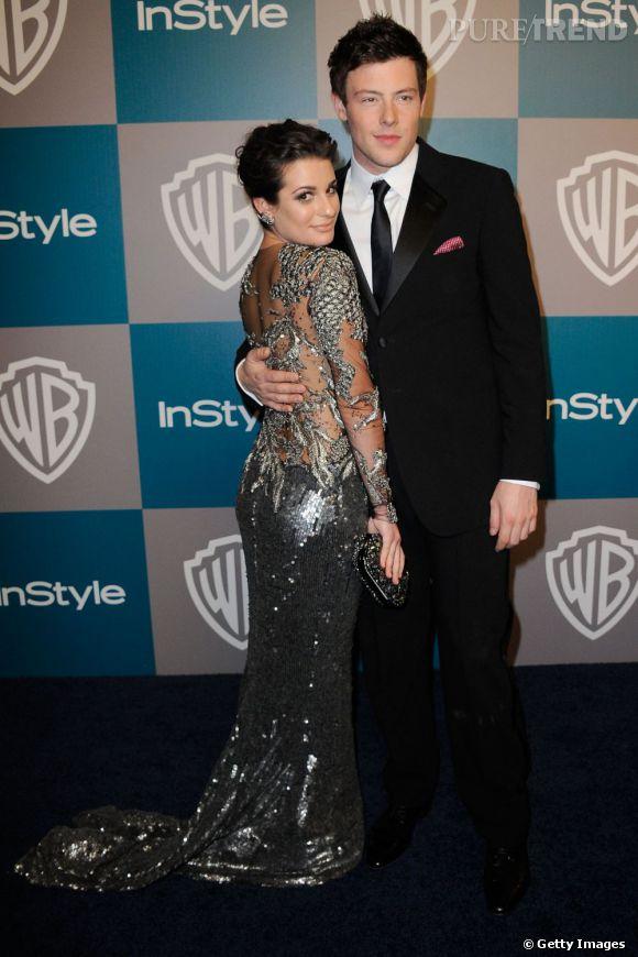 Lea Michele et Cory Monteith à l'after Party des Golden Globe Awards After Party en 2012.
