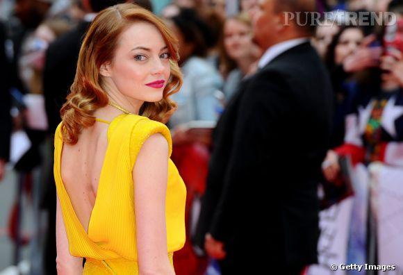 """Emma Stone à l'avant-première de """"The Amazing Spider-Man 2"""" à Londres."""