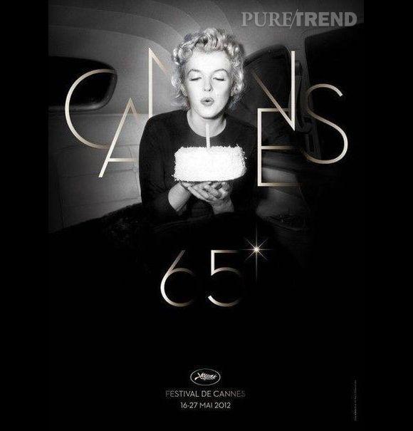 En 2012, pour les 65 ans du festival, Marilyn Monroe soufflait les bougies.