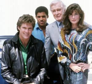 David Hasselhoff, Peter Parros, Edward Mulhare en 1985.