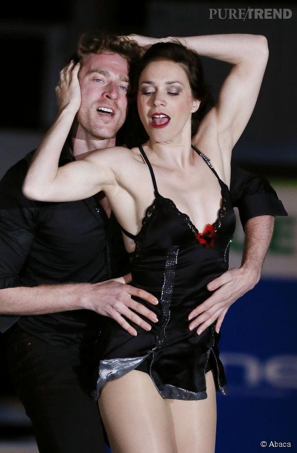 Nathalie Pechalat et son équipier Fabian Bourzat à la patinoire d'Anglet.
