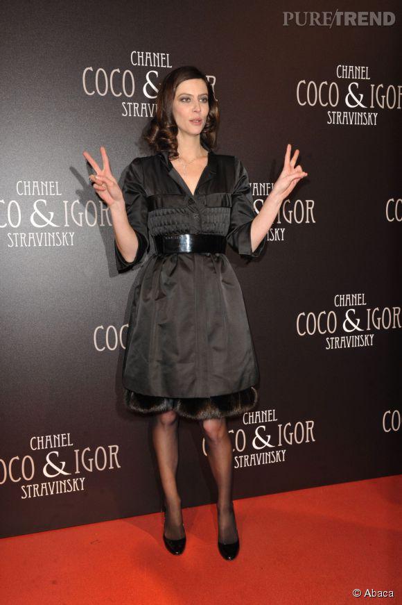 """Anna Mouglalis lors de l'avant-première de """"Coco Chanel et Igor Stravinsky"""" en décembre 2009."""
