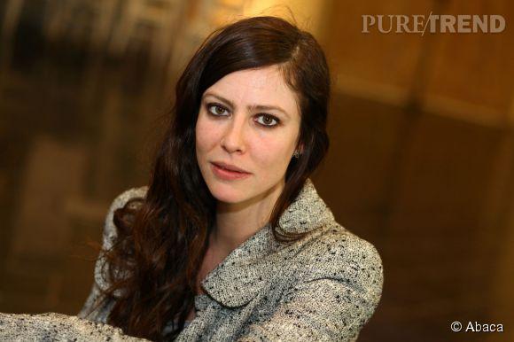 """Anna Mouglalis lors d'un photocall pour le film """"Chez Gino""""."""