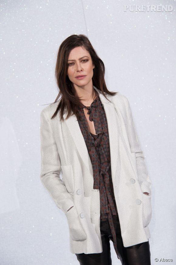 Anna Mouglalis au défilé Haute Couture Chanel en janvier 2014.