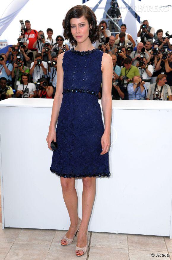 """Anna Mouglalis au Festival de Cannes pour """"Coco Chanel et Igor Stravinsky"""" en 2009."""