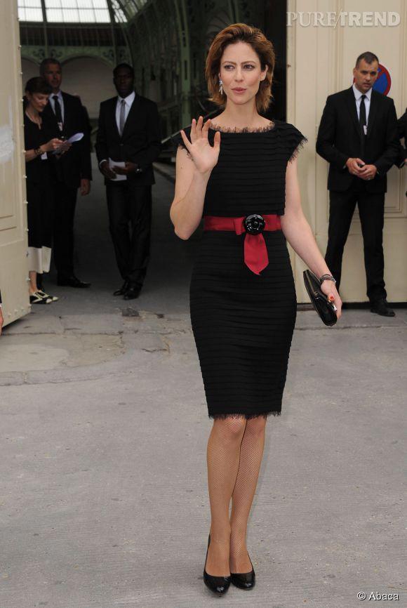 Anna Mouglalis au défilé Chanel Haute Couture en juillet 2012.