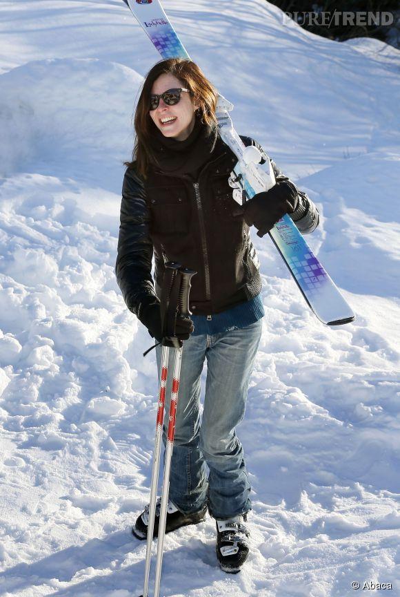 Anna Mouglalis, rayonnante au ski, pour le Festival de l'Alpe d'Huez !