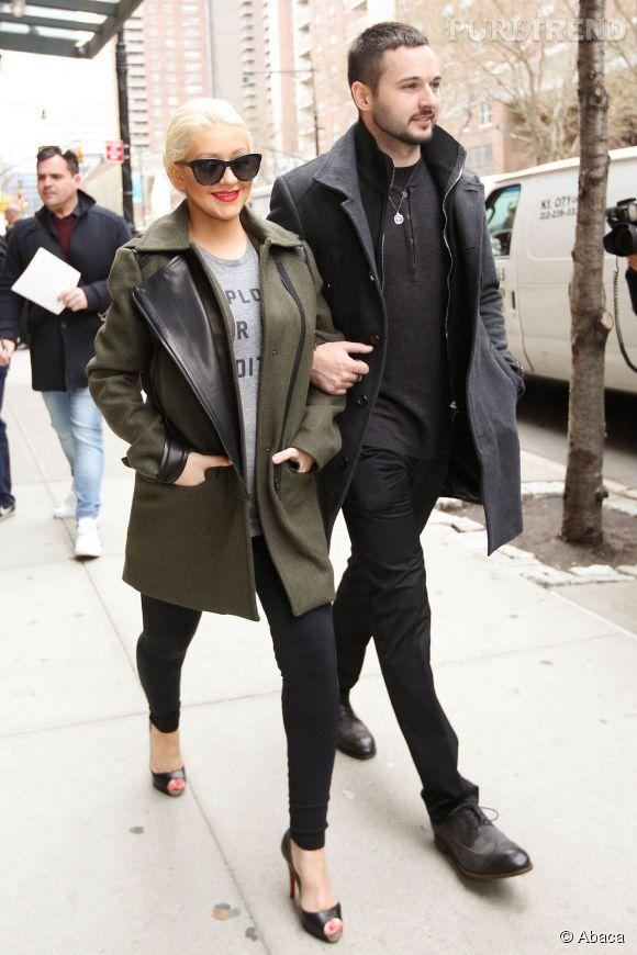 Chritina Aguilera et son futur mari, Matthew Ruttler.