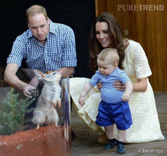 Les parents du petit George, Kate et William, ont fait découvrir le zoo de Taronga (Sydney) à leur fils, le dimanche 20 avril 2014.